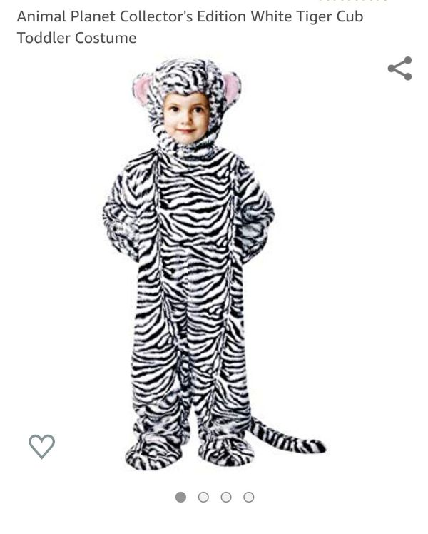 Animal Planet white tiger cub costume (18-24 months)