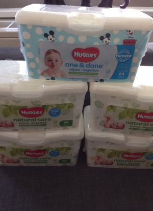 Not available 3#)5 Boxes of Huggies Wipes. Please See All The Pictures and Read the description for Sale in Alexandria, VA