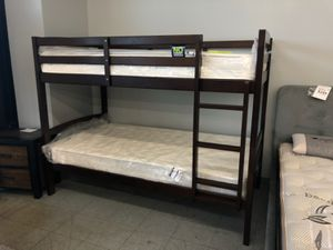 Twin bunk bed new with mattress. In box for Sale in Palmdale, CA