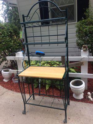 bakers rack (has wine rack under table) for Sale in Hendersonville, TN