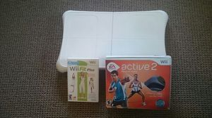 Wii active 2 + wii fit plus + board for Sale in Scottsdale, AZ