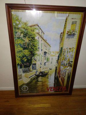 """39""""x 27"""" Italia Venezia picture. for Sale in Bakersfield, CA"""