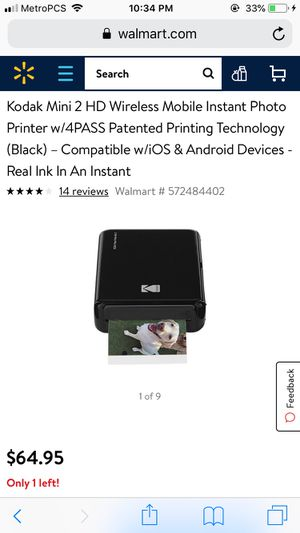 Kodak mini photo printer for Sale in Knoxville, TN