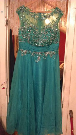 Prom dress! Teal color for Sale in Houston, TX