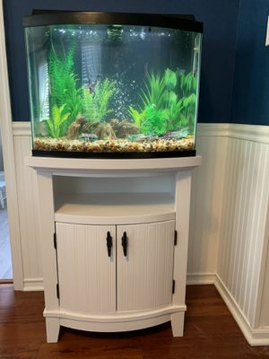 Make an Offer - Brand new fish tank aquarium bow front 20 gallon for Sale in Upper Freehold, NJ
