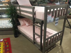 Twin/Twin Bunk Bed, Grey for Sale in Downey, CA