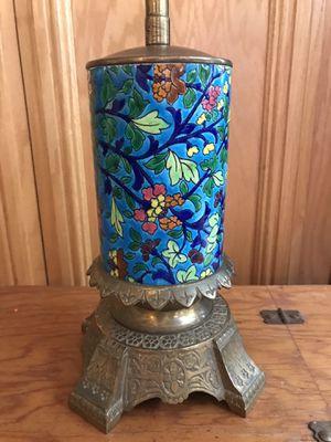 Vintage Antique Cloisonné & Brass floral 1940's Lamp for Sale in San Diego, CA