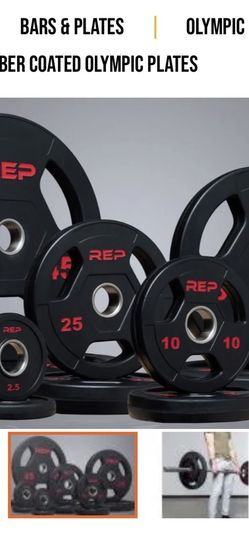 Rep Fitness rubber Coated V2 45 Lb Plates for Sale in Apex,  NC