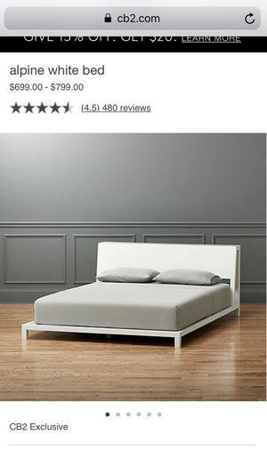 CB2 Queen Alpine White Bed for Sale in Tampa, FL