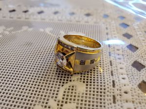 Men's ring size 10. REAL Solid 18K GOLD with stones for Sale in Woodburn, OR