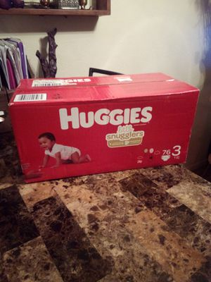 NEW Huggies Little Snugglers size 3 Box of Diapers 76 count pack for Sale in Phoenix, AZ