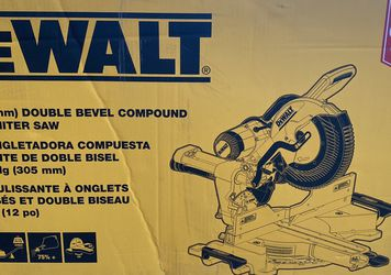 "New, Dewalt DWS779 12"" double bevel compound sliding miter saw (retail $549) for Sale in West Valley City,  UT"