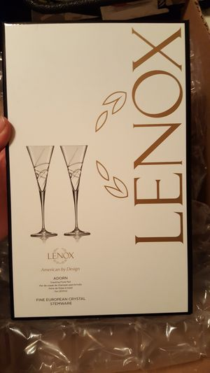 Lenox wedding toast champagne glasses- NEVER USED for Sale in Pittsburgh, PA