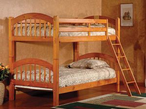 Oak twin over twin bunk bed divisible to 2 beds ( new) for Sale in Hayward, CA