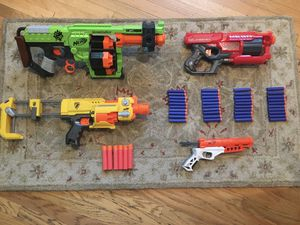 Nerf gun lot with Doominator, Barricade, Rotofury, and more for Sale in Los Angeles, CA