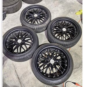 """4 rims 2 Tires 18"""" 5 X 110 Bolt Pattern for Sale in Yonkers, NY"""