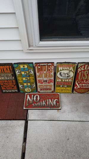 Vintage Bar Signs by George Nathan artist, man cave, decor for Sale in St. Clair Shores, MI