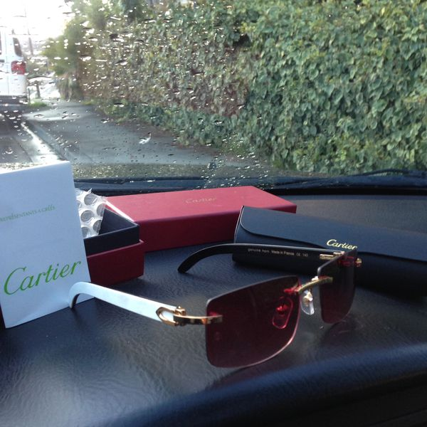 c8f5f9d0df1 CARTIER C Décor White Buffalo Sunglasses GREAT DEAL! for Sale in ...