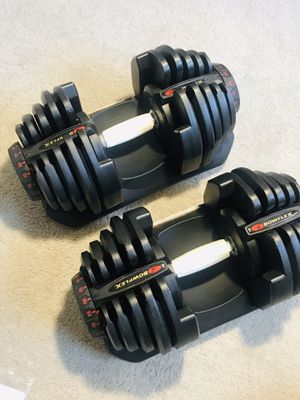 BOWFLEX DUMBBELLS SELECT-TECH 1090s DUMBBELLS WEIGHT. PERFECT WORKOUT EXERCISE WEIGHTS SET•BENCH•CURL BARS •WORKOUT• for Sale in Las Vegas, NV
