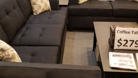 🔥 Brand New Dark Grey Linen Sofa + Loveseat 2PCs Set for Sale in San Diego,  CA