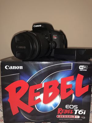 Canon Rebel T6i Camera for Sale in MONTGOMRY VLG, MD