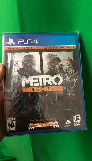 Metro Redux (PS4, Like New) Complete for Sale in Vail, AZ