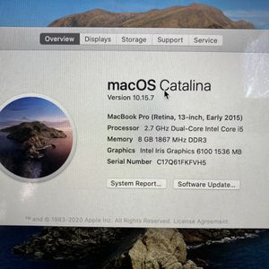 "Apple MacBook Pro 2015 13"" RETINA Laptop - i5 2.7GHz 8GB 256SSD for Sale in Portland, OR"