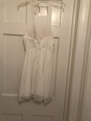 White with sequins around waist small dress for Sale in Cleveland, OH