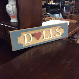 Dolls sign for Sale in Mendon, MA