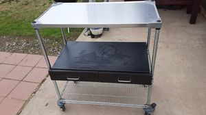 Metal shelves with rolling wheels for Sale in Fresno, CA