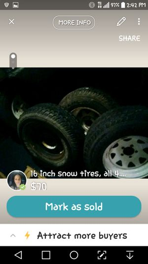 4 snow tires for Sale in MSC, UT