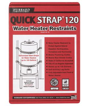 Up To 120 Gallon Water Heater Strap - Earthquake Safe for Sale in Las Vegas, NV