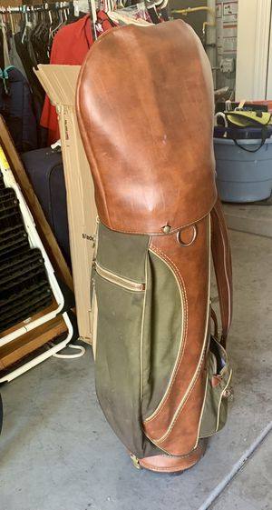 VINTAGE Spalding Leather Golf Bag w/cover—Rare!!! for Sale in Albuquerque, NM