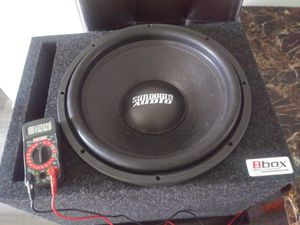 Sundown 15inch sub with ported box for Sale in Federal Way, WA