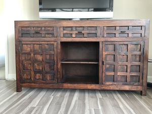 Wood console cabinet, tv stand for Sale in McLean, VA