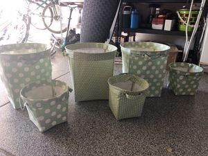 Set of 6 Pottery Barn baskets/storage bins for Sale in San Diego, CA