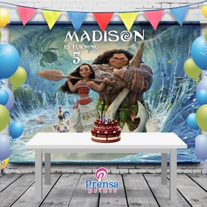 6x6 Personalized Moana Birthday Backdrop Banner for Sale in Riverside, CA