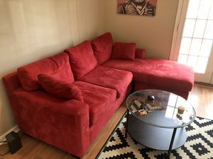 Red sectional sofa for Sale in Washington, DC