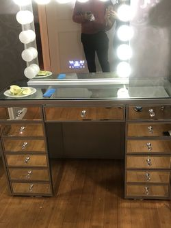 Vanity And Mirror for Sale in Fairview,  NJ