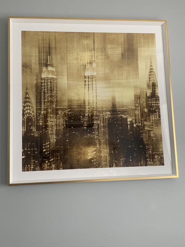 Large Z Gallerie Painting of NYC