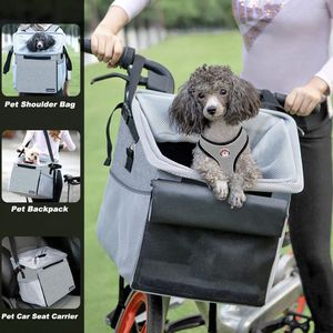 Pet Carrier Bicycle Basket Bag Pet Carrier/Booster Backpack for Dogs and Cats for Sale in Chicago, IL