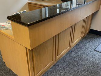 Solid Wood Office Desk w/ Stone Countertop for Sale in Everett,  WA