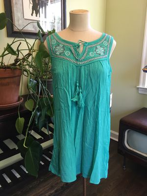 As U Wish Teal Embroidered Tunic Dress - Size Small - New! for Sale in Hamilton Township, NJ