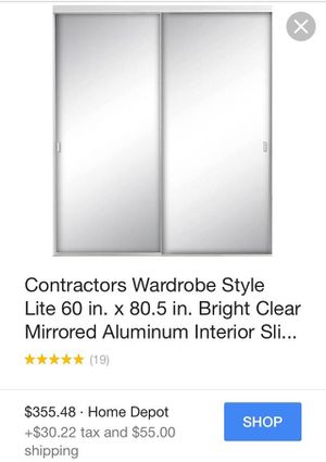 Sliding Closet Doors with Mirrors (Brand New!) for Sale in San Francisco, CA