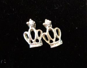 Crown Silver Stud Earrings for Sale in Parkville, MD