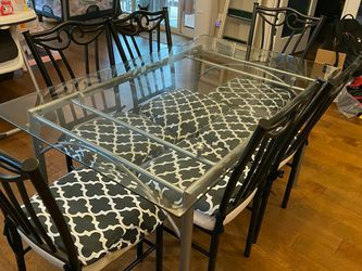7pc Modern Glass Table Dining Set for Sale in Bremerton,  WA