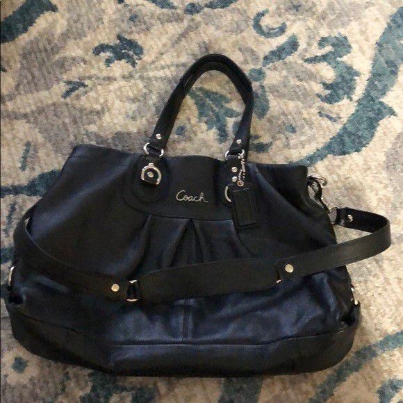 Coach black leather Ashley hobo bag/ crossbody purse