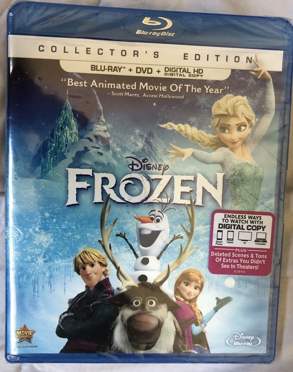 Walt Disney's Frozen Blu Ray, DVD, & Digital Copy