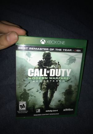 Call of Duty Modern Warfare Remastered Xbox one for Sale in Anaheim, CA