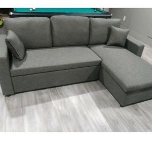New In Box Grey Sectional Sofa Pullout Bed for Sale in Lynwood, CA